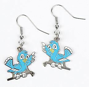 BLUE BIRD DROP EARRINGS